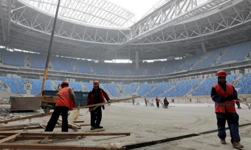 HRW передает онарушениях прав строящих объекты Кубка мира пофутболу