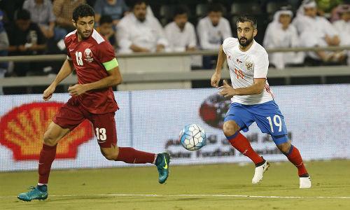 Русские футболисты проиграли Катару втоварищеском матче